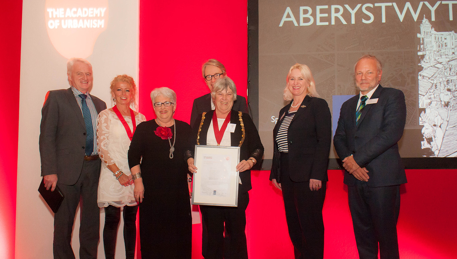 Aberystwyth collects the Great Town award