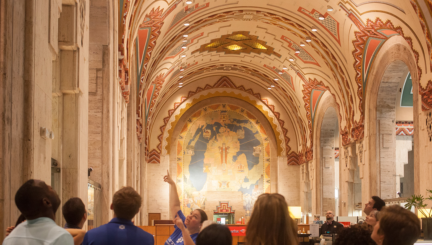 A tour led by DXF founder Jeanette Pierce takes in the downtown Guardian Building ph. Matt Chung