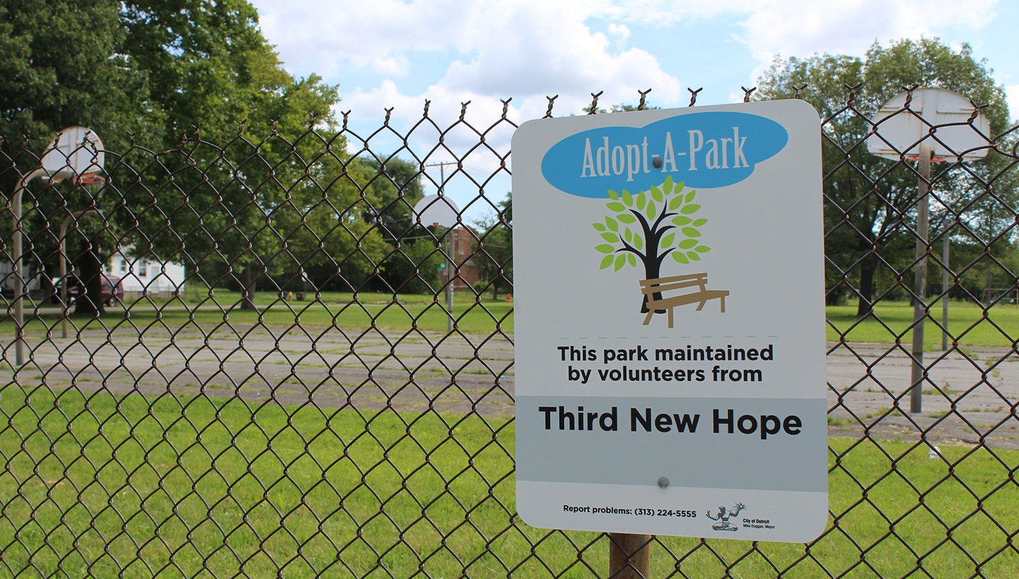 Phelps Park, one of many to be adopted by a local organisation. ph. WDET 101.9 FMl