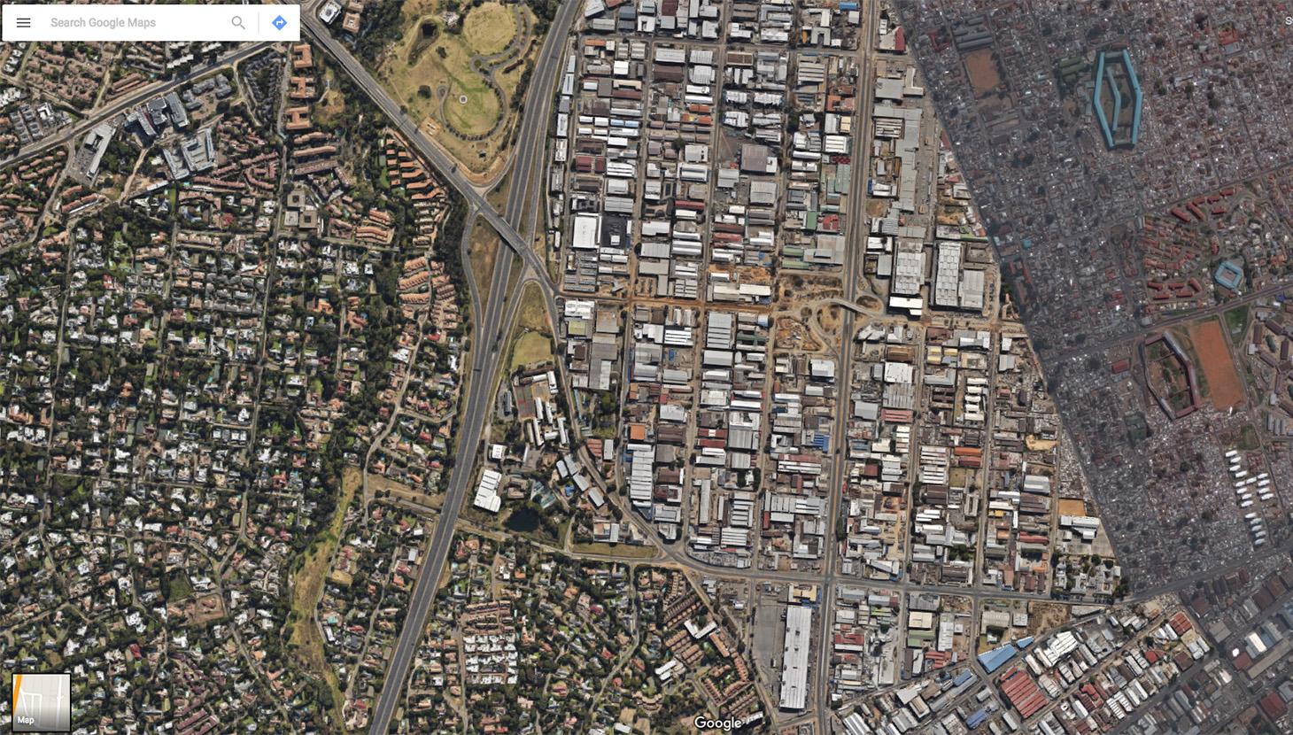 Johannesbeg ph. Google Earth
