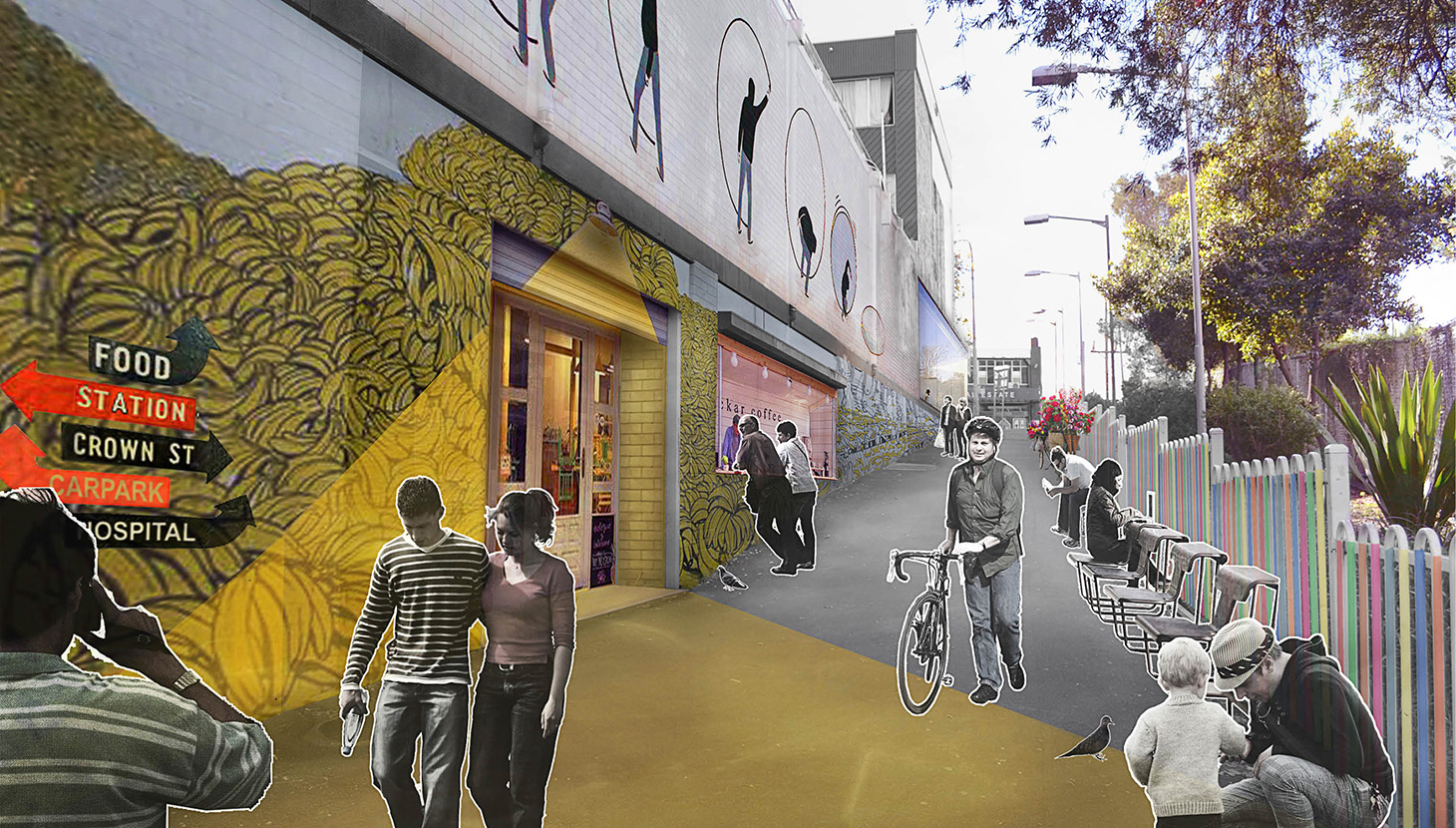 Collaborating with Gehl Architects, Wollongong's strategy promotes a human scale urban form and low cost interventions to catalyse public life.