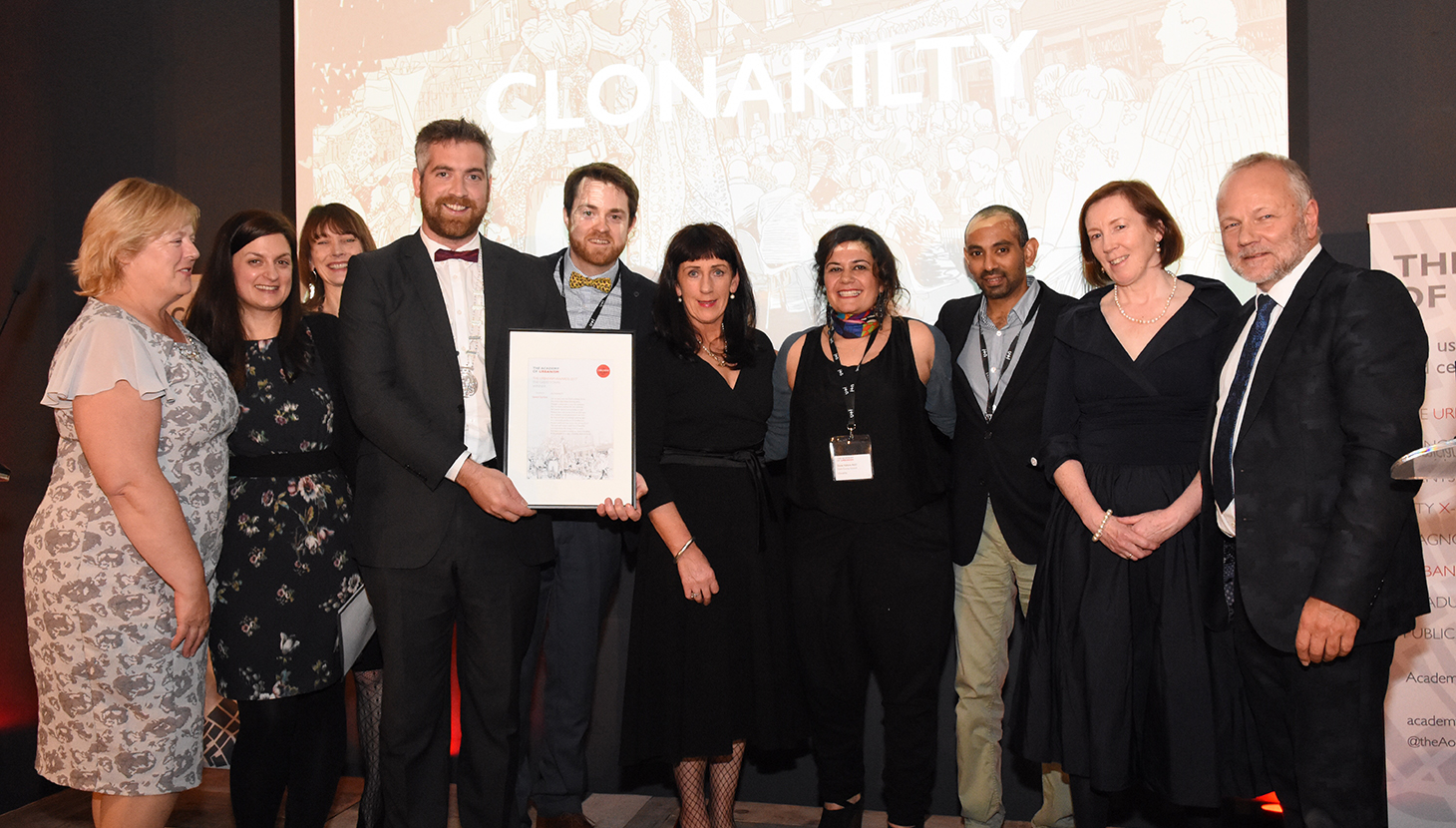 Clonakilty representatives recieve The Great Town Award