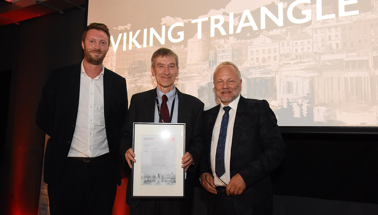 Rupert Maddock picks up Great Place award for Viking Triangle
