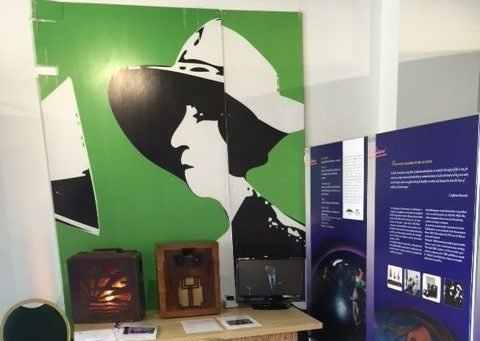 Marconi Exhibition depicting the first ever public radio broadcast  with Dame Nellie Melba singing 'Home Sweet Home' from Chelmsford.
